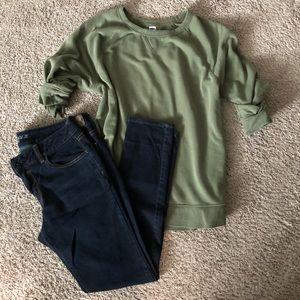 Olive green crewneck sweater